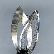 "SALE Zeidell""s Sterling Hematite Leaf Brooch"