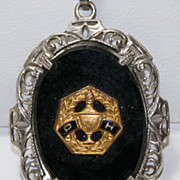 Vintage Grange Patrons of Husbandry Masonic Fraternal Pendant for Necklace