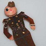 Vintage Plastic Army Military Buddy Brooch