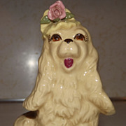 REDUCED Vintage COCKER SPANIEL Hand Painted Porcelain Figurine by Cordelia Originals