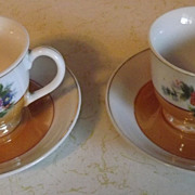 REDUCED Made in Occupied Japan teacups and saucers demitasse with flower motif