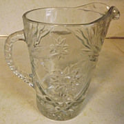REDUCED Anchor Hocking clear EAPC glass STAR OF DAVID Large Pitcher