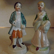 REDUCED Vintage Victorian style outdoor couple figurines in period dress