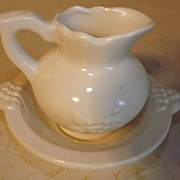 REDUCED Made in Japan miniature pitcher and washbasin Grapes motif