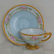 Rosenthal Early 1900's Demitasse Footed Cup & Saucer