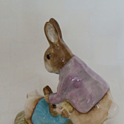 SALE Beswick Beatrix Potter BP3b Mr. Benjamin Bunny & Peter Rabbit Figurine 1974 - 1985