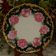 SALE Limoges Roses Factory Decorated Plate