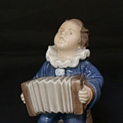 "SALE Royal Copenhagen ""Blue Accordion Boy"" 3667 Figurine - 1964 First Quality"