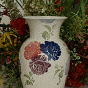 "Royal Winton Large Spongeware ""Tradition"" Vase"