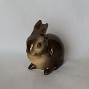 Vintage Goebel Porcelain Brown Bunny Figurine