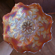 Fenton Marigold Holly Carnival Glass Bowl
