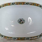 "1891 - 1932 Limoges Jean Pouyat 19"" Birds & Flowers POY47 Meat Platter"