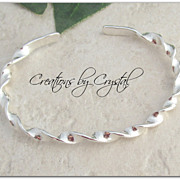 "SOLD Sterling Silver ""Twisted"" Cuff Bracelet"