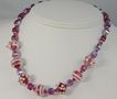Handmade Lampwork Beads and Fuschia Swarovski Cube Crystals