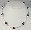 Amethyst Swarovski Crystal Illusion Necklace (Choice of Colors)