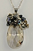Pear Style Swarovski Crystal Pendant with Various Pearl and Crystal Drops