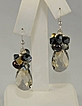 Pear Shaped Swarovski Crystal Earrings in Light Smokey Grey with Various Drops