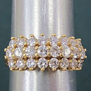 Ladies 1.75 Carat 14K Yellow Gold Diamond Ring