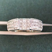 Lady's 14K White Gold Diamond Ring