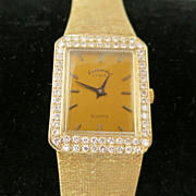 14K Man's Yellow Gold and VS Diamond Watch
