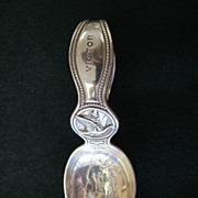 Tiffany Sterling Mother Goose & Cat Fiddle Child's Spoon - 1911