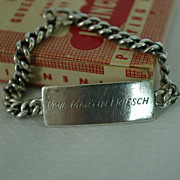 World War II Identification Bracelet