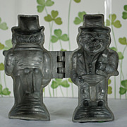 V. Clad & Sons, Philadelphia Pewter Leprechaun Ice Cream Mold