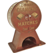 Early 1900s Diamond Matchbook Vending Machine - Vintage Advertising Counter Dispenser