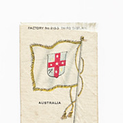 SALE Colonial British Empire Flag - Circa 1820s  Australia Colony Flag Tobacco Premium -  Earl
