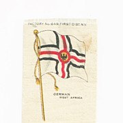 SALE 1880s Germany Colonial Empire Flag - German West Africa Flag Tobacco Premium -  Early 190