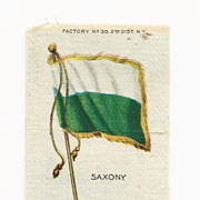 SALE Circa 1900 Germany Flag - Kingdom of Saxony  Flag Tobacco Premium - Early 1900s Vintage C