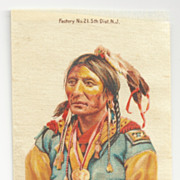 SOLD Native American Apache Chief Black Hawk Tobacco Premium  Geronimos Tribe - Early 1900s 