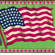 UNITED STATES OF AMERICA 1912-1959 48-STAR National Flag Tobacco Premium Flannel Felt  AMERIC