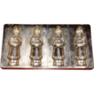 Four Large Alfred Bodderas No. 1508 German Father Christmas Figural Flat Chocolate Molds