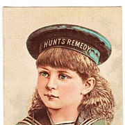REDUCED 1883 Hunt's Remedy Patent Medicine Victorian Advertising Trade Card - Hunt's Kidney An