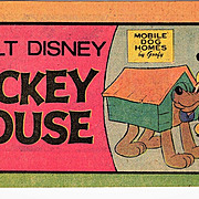 1976 Walt Disney Mickey Mouse Mini Comic Book � Features Mickey Mouse and His Dog Pluto