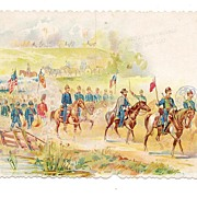 SALE Rare Vintage Stationary Saleman's Sample - American Civil War Panorama - G. A. R. ...