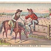SALE 1880s Horse Drawn Farm Machinery Victorian Advertising Trade Card -  Tait Wire Check-Rowe