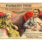 SALE 1880s Victorian Patent Medicine Advertising Trade Card - Parker's Tonic - Parker's Hair .