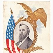 SALE Vintage 1906 Embossed Photo Lithograph Postcard  - Rutherford B. Hayes, 19th United State