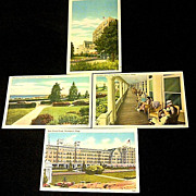 SALE Four 1937-1945 Swampscott, Massachusetts Linen Postcards - New Ocean House Hotel - Unused