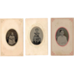 SALE Three c1860s Hand Tinted Child Tintype Portraits - Perhaps The Same Girl at Different Ages