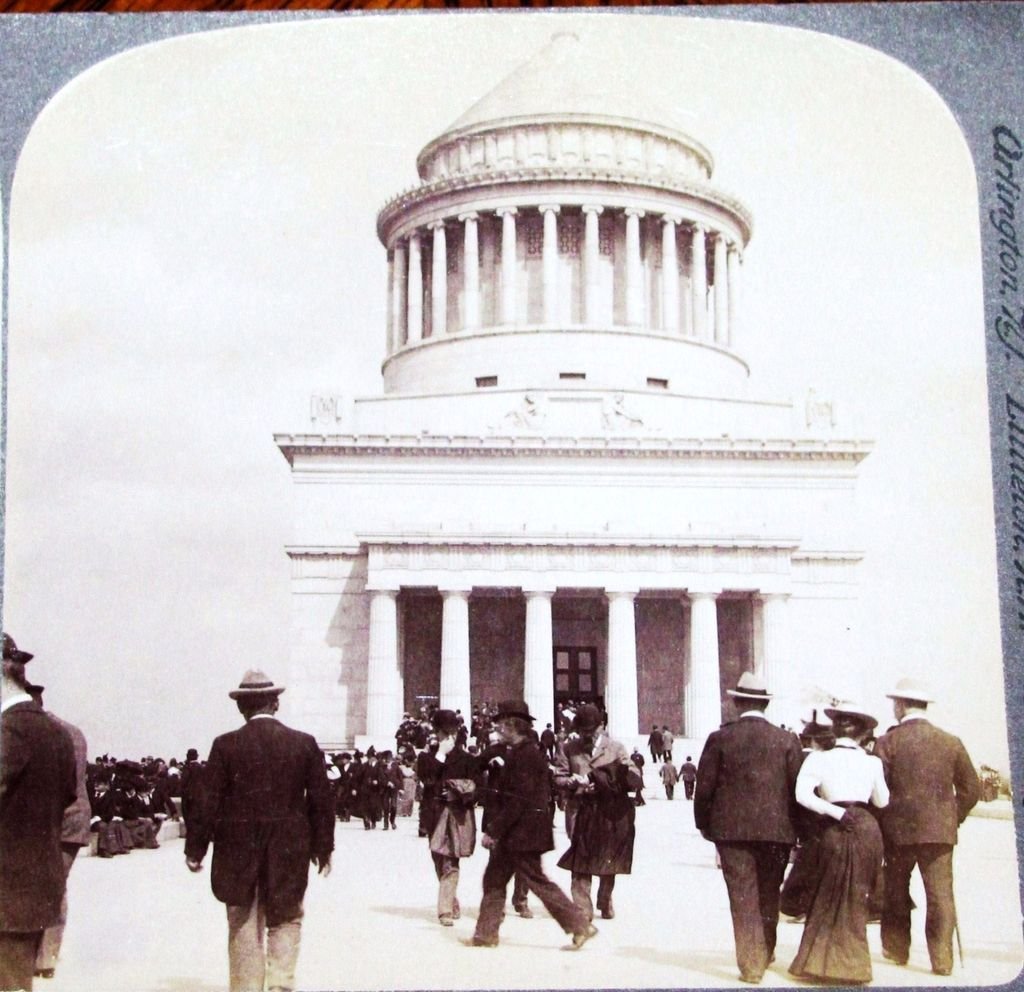 1899  New York City Landmark  Stereo View  &ndash;&ndash;- Tomb of Ulysses S. Grant &ndash; Riverside Park &ndash; United States President & Civil War General & Union Commander