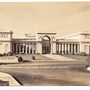 SALE 1930s San Francisco Real Photo Postcard - California Palace of the Legion of Honor � Art