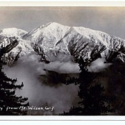 SALE 1930s Mount Baldy, California Real Photo Postcard � Mount San Antonio Taken from Mount Wi