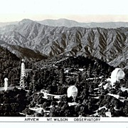 SALE 1930s Mount Wilson, California Real Photo Postcard � Airview of Mount Wilson Observatory