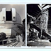 SALE 1930s Mount Wilson, California Real Photo Postcard � Mount Wilson Observatory � Hooker Te