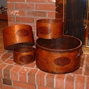 Rare Vintage Antique Shaker Society Kitchen Dry Goods Measuring Containers - Sabbathday Lake,
