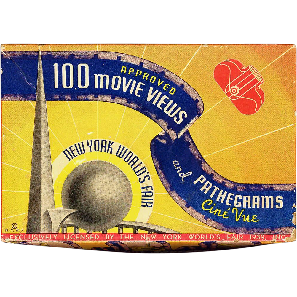1939 New York World's Fair Souvenir - Film Strip and Viewer