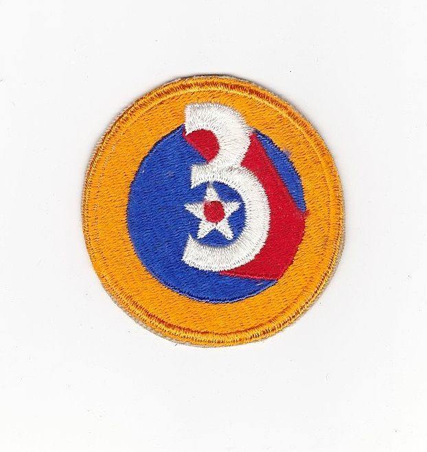 Vintage World War Two Army Air Force 3rd Air Force Insignia -  AAF Uniform Shoulder Patch